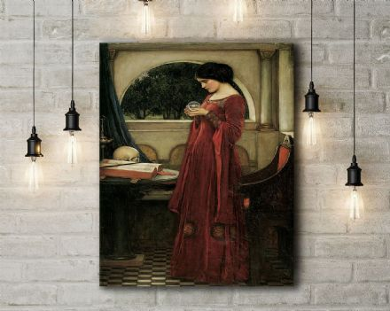 John William Waterhouse: The Crystal Ball. Fine Art Canvas.